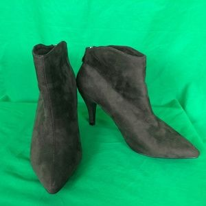Herstyle 8 Olive Green Slmanderr Ankle Boots Booti